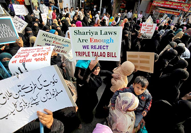 Support for triple talaq