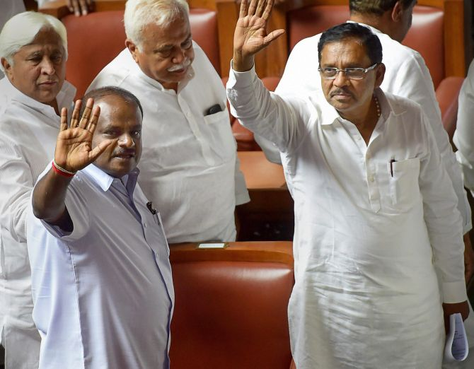 Karnataka drama ends as Kumaraswamy wins trust vote without contest