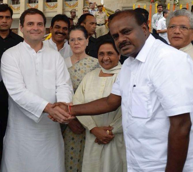 I am at mercy of Congress, not 6.5 cr people of K'taka: Kumaraswamy
