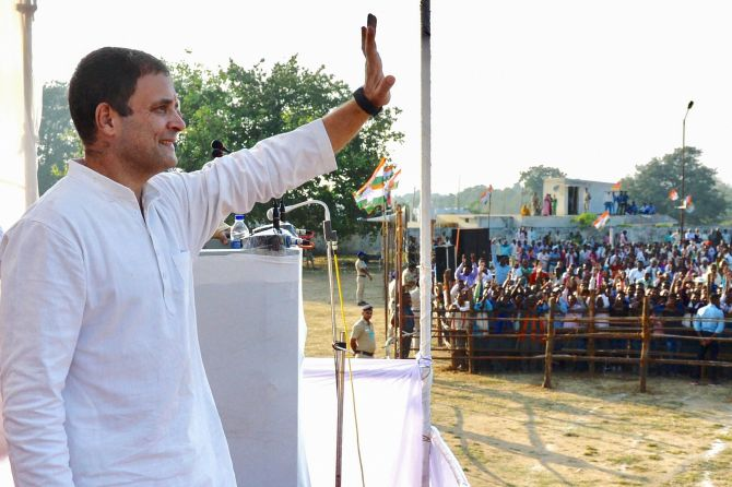 Surveys give majority to Congress in Rajasthan, edge in MP