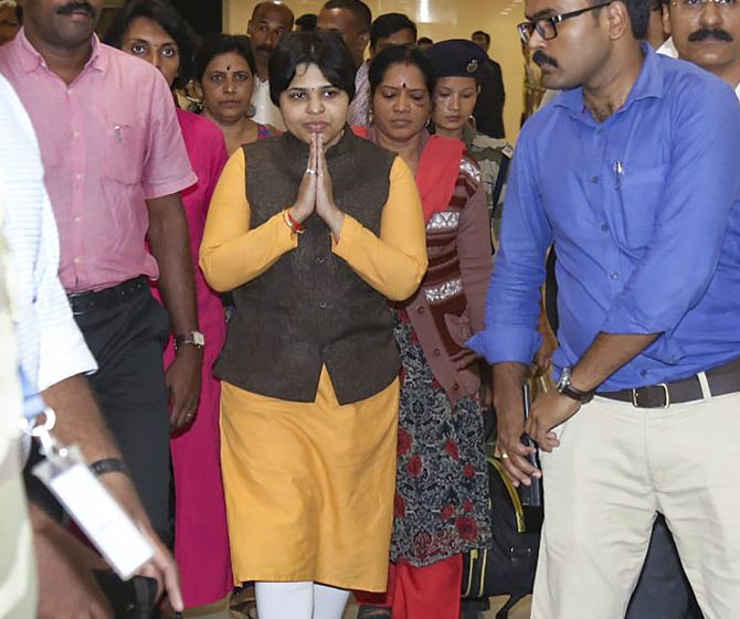 India News - Latest World & Political News - Current News Headlines in India - Trupti Desai aborts Sabarimala trip, vows to come back