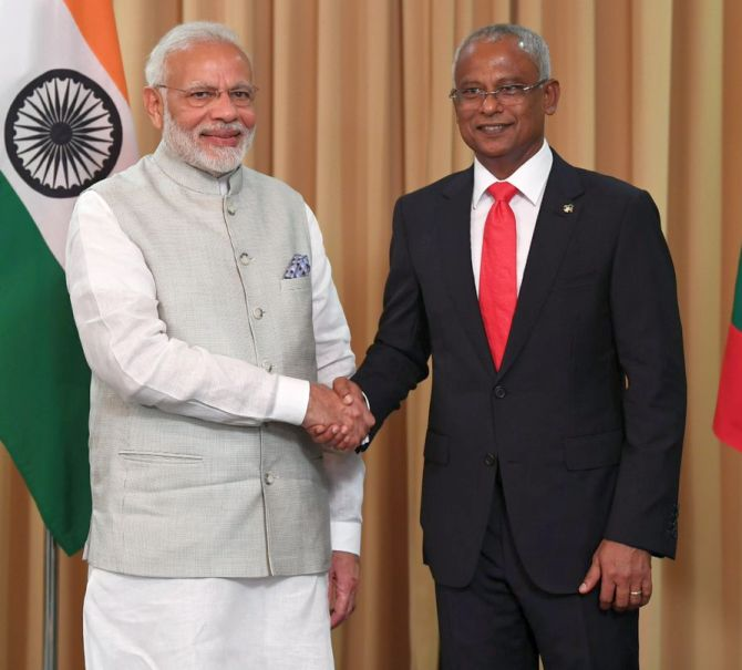 India News - Latest World & Political News - Current News Headlines in India - Modi attends Maldives President Solih's swearing-in ceremony