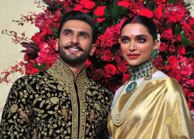 Deepika and Ranveer at their Bengaluru reception