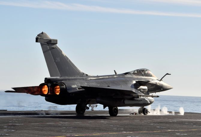 IAF receives first Rafale aircraft in France