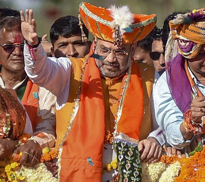 BJP believes a grand Ram temple should be built in Ayodhya: Shah