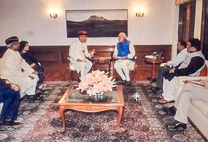 AMU delegation led by Lt Gen Shah with Prime Minister Narendra Modi
