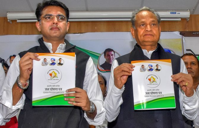 Rajasthan Congress vows to waive farm loans, provide free education to women