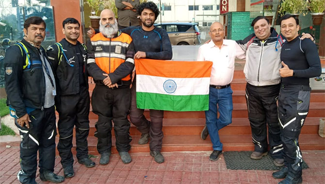 Riding across India for the Armed Forces