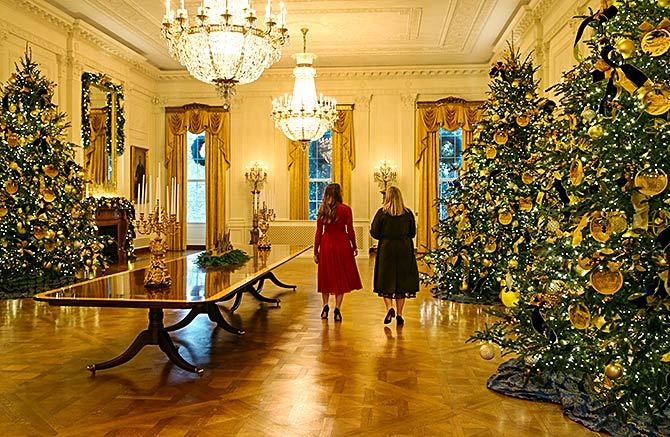Christmas With The Trumps At The White House Rediff Com India News