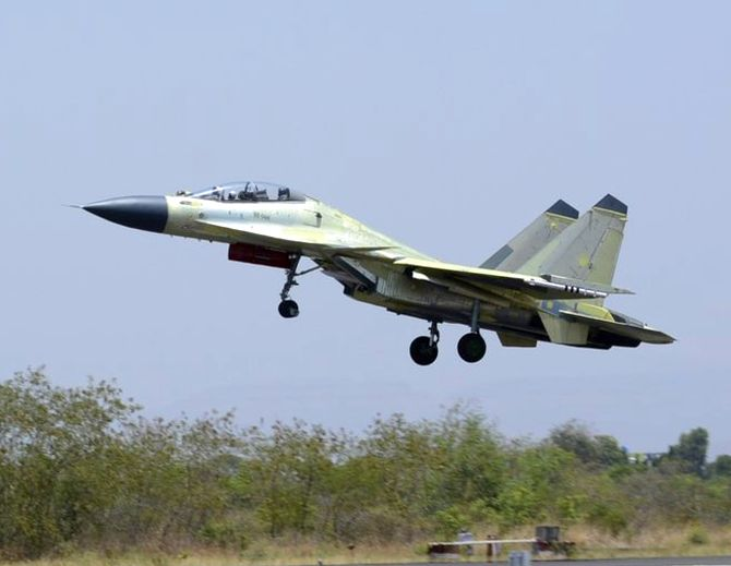 Sukhoi Su-30MKI fighter jet