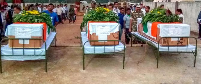 Tribute to police personnel and video journalist killed in Naxal attack