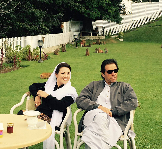 Reham Khan with Imran Khan