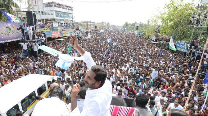 YSR Congress leader Jaganmohan Reddy believes his party will win all 25 Lok Sabha seats in Andhra Pradesh. Photograph: SnapsIndia