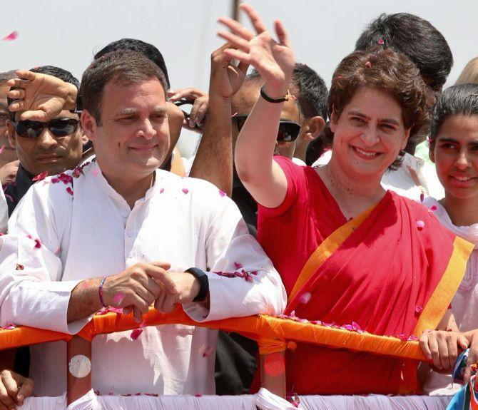 Rahul and Priyanka Gandhi in Amethi