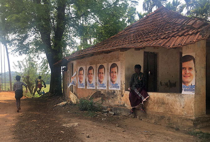 A tribal hamlet in Wayanad. Photograph: Seema Pant for Rediff.com