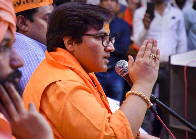 Didn't become MP to clean toilets: Pragya Thakur
