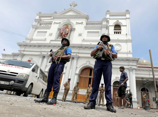 The St Anthony's shrine in Colombo, one of the seven sites in Sri Lanka  attacked by suicide bombers on Easter, April 21, 2019. Photograph: Dinuka Liyanawatte/Reuters