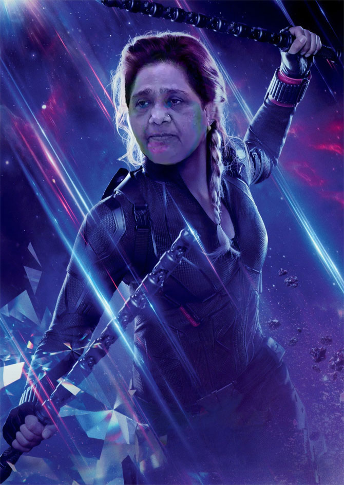 Mayawati as Black Widow