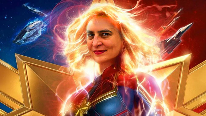 Priyanka Gandhi as Captain Marvel