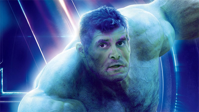 Rahul Gandhi as The Hulk