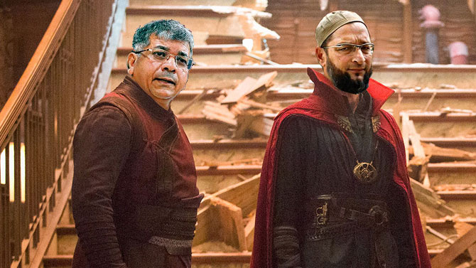 Asauddin Owaisi and Prakash Ambedkar as Dr Strange and Wong