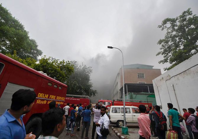 AIIMS fire doused, patients shifted back to wards