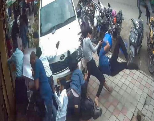 VIDEO: Motorist mows down pedestrians in Bengaluru