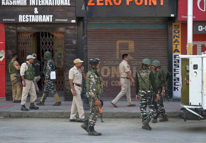 Developments in J-K internal matters of India: US