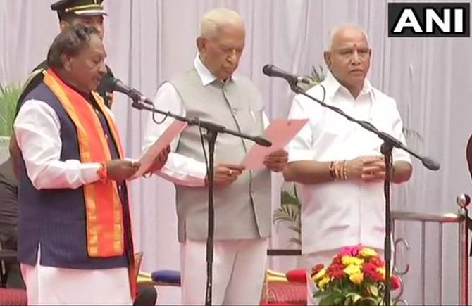 Yediyurappa expands Cabinet, 17 MLAs join as ministers