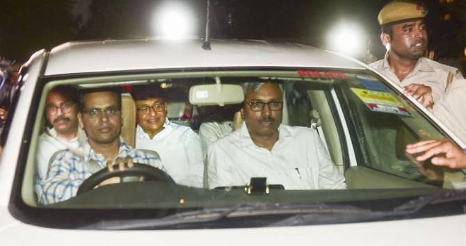 Father arrested to divert from Article 370: Karti