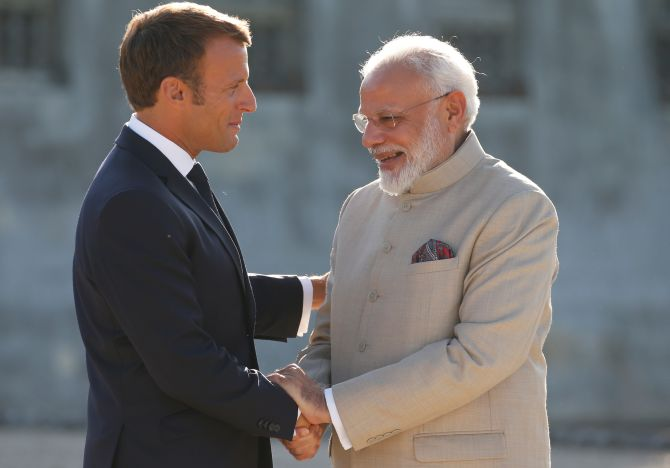 Modi holds talks with French President Macron