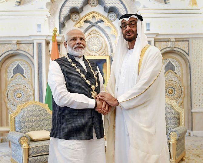 UAE honours Modi with highest civilian award