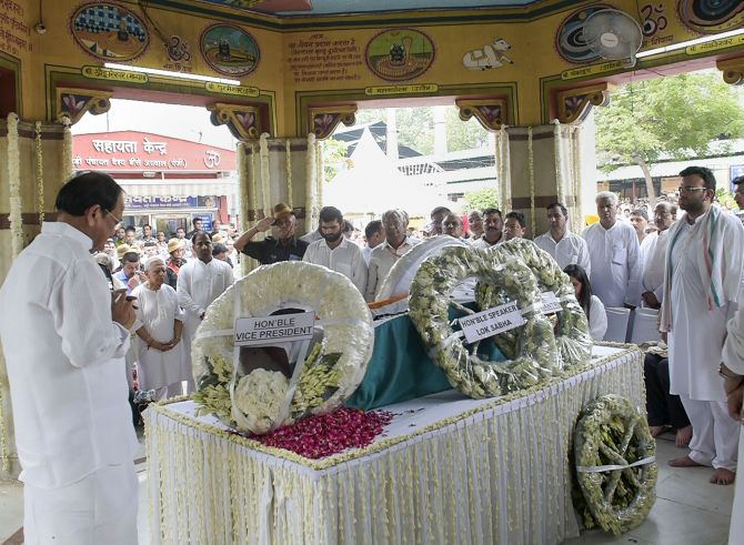Arun Jaitely cremated with State honours