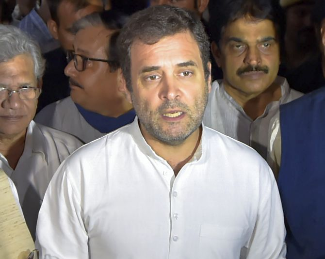Got a taste of brute force: Rahul on Kashmir visit
