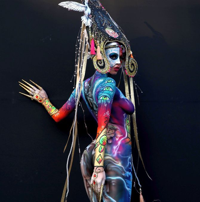 World S Best Body Painting Artists Show Off Their Amazing Artistry Rediff Com India News
