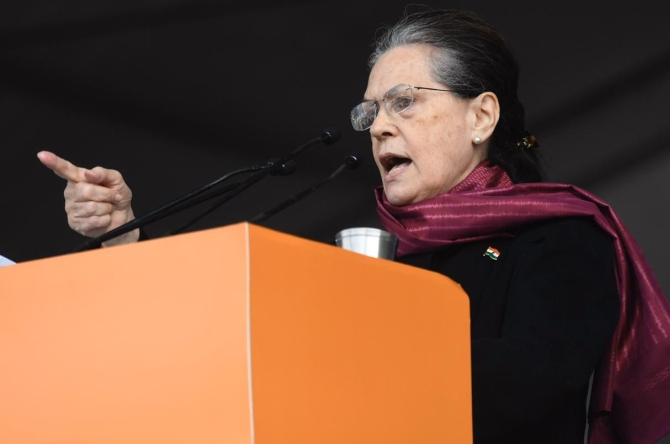 Time to rise to save country and democracy: Sonia