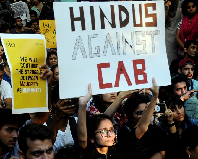 Mumbai students take to the streets against CAA