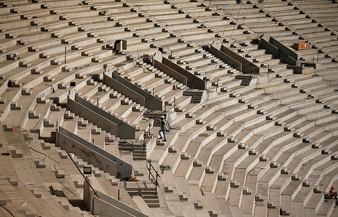 The Sardar Patel Gujarat Stadium in Ahmedabad. Photograph: Amit Dave/Reuters