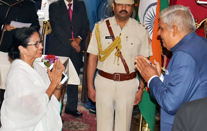 Why Governor Dhankar is shooting darts at Mamata