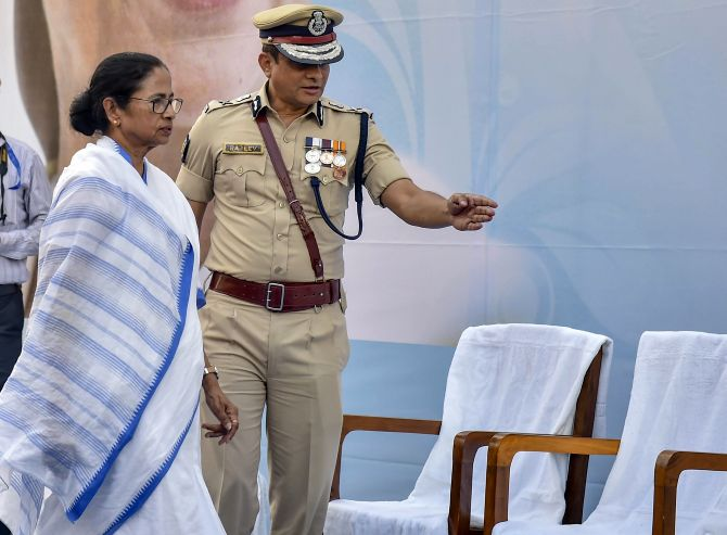 Mamata turns street fighter for cop she once refused to trust