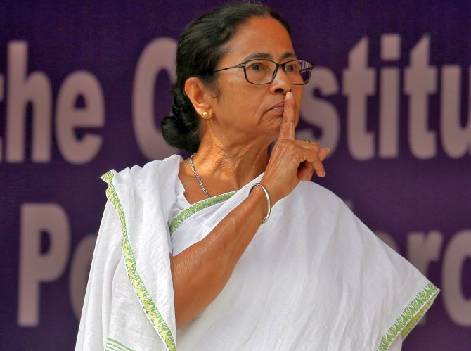 West Bengal Chief Minister Mamata Banerjee. Photograph: Rupak De Chowdhuri/Reuters