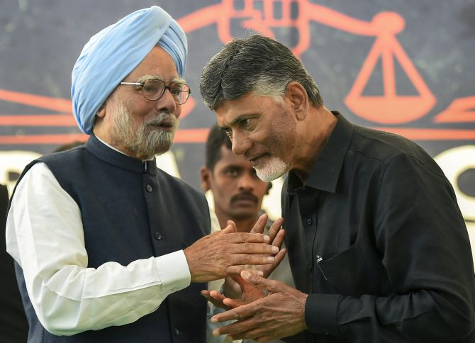 Naidu's daylong fast becomes rallying point for Opposition