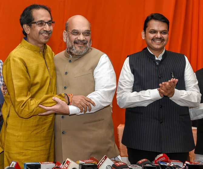 WATCH: Amit Shah opens up on snapping ties with Sena