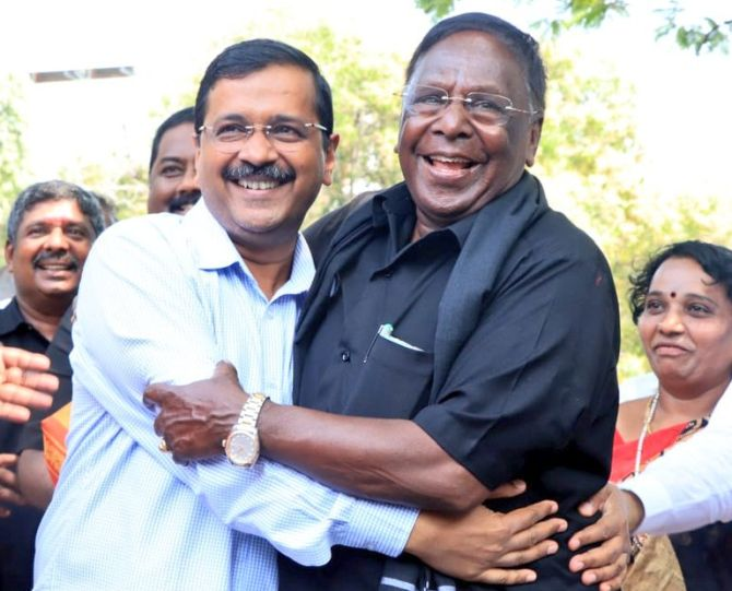 India News - Latest World & Political News - Current News Headlines in India - Puducherry CM ends dharna after talks with Lt Governor Bedi
