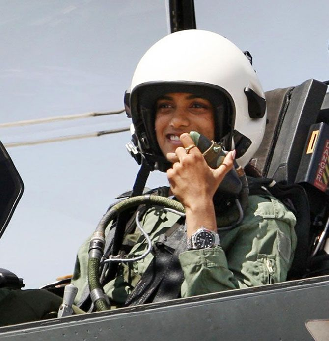 Ace Indian shuttler P V Sindhu became the first woman to do a sortie in the indigenously built Light Combat Aircraft, Tejas, at the Aero India 2019 in Bengaluru on Saturday, February 23