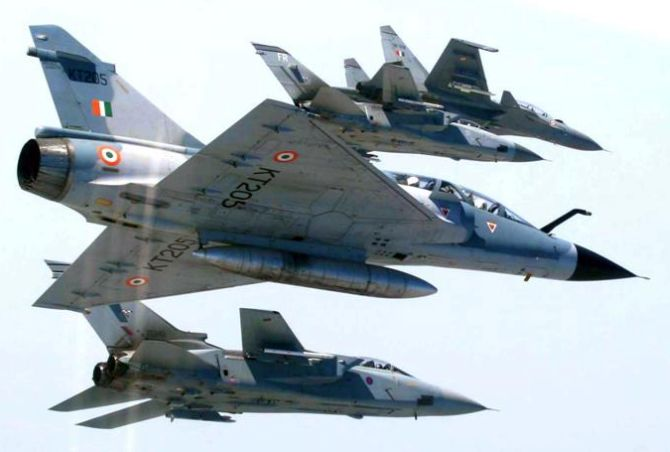 Indian Air Force Mirages in action
