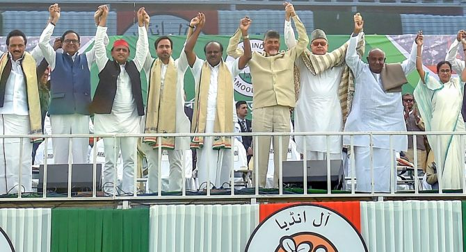 India News - Latest World & Political News - Current News Headlines in India - At mega TMC rally, united Oppn vows to oust Modi