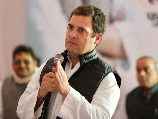 Priyanka, Scindia given target to form govt in UP: Rahul