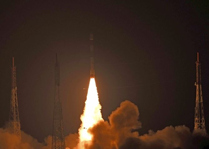 An ISRO satellite is launched