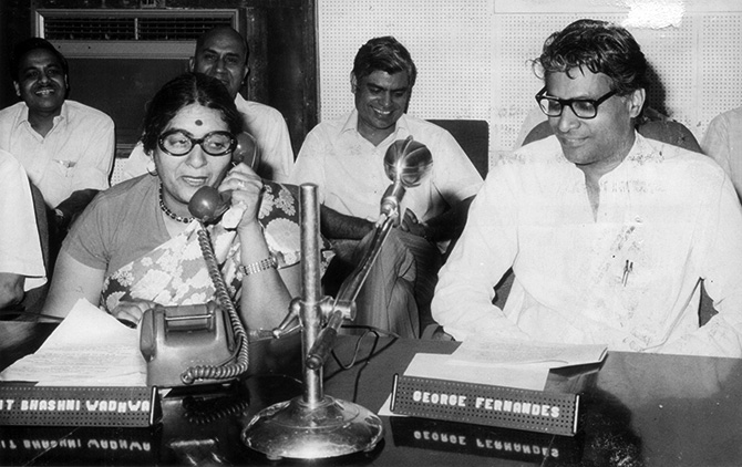 George Fernandes as a Union minister in the Janata Party government, 1977